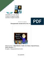 Managementul Comunicarii in Clasa de Elevi