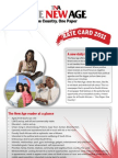 The New Age - Advertisement Rate Card 2011