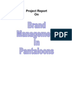 Brand Mgmt in Pantloons