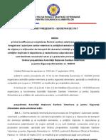 Proiect Modificare Si Comp Let Are Ordinul Presedintelui ANSVSA Nr. 16 Din 2010_12539ro