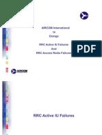 RRC Iu and Radio Failures
