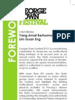 George Town Festival 2011 Program