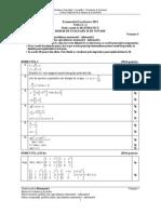 Barem de corectare BAC 2011 - Matematica M1