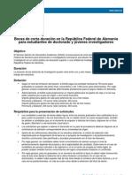 Daad 1 6meses Doctorado Beca Corta Duracion 2012 Pre
