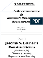 Educ22 Report- Bruner & Ausubel (Sjsabio)