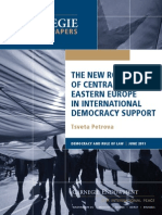 The New Role of Central and Eastern Europe in International Democracy Support