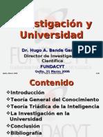 Investigación y Universidad