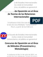INVITACIÓN CONCURSO DE OPOSICIÓN