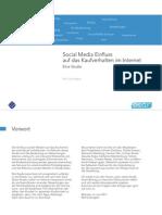 Studie - Social Media Einfluss Auf Das Kaufverhalten Im Internet
