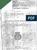 Vergara y Velazco- El Archipiélago de San Andrés (Las islas de San Andrés y Providencia) Noticia Geográfica 1889