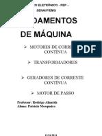 MÁQUINAS DE CORRENTE CONTÍNUA