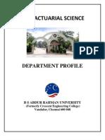 MSc Actuarial Science May2011
