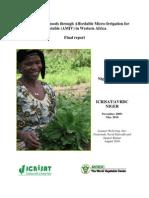 ICRISAT AVRDC Niger Final Report AMIV Final 280910-2