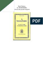 Il Teosofismo Storia Di Una Pseudoreligione