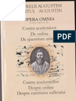 Sfantul Augustin IV. Contra Academicilor. Despre Ordine. Despre cantitatea Sufletului