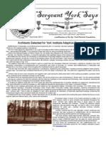 Sergeant York Says Newsletter (Summer 2011)