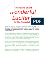 Do Mormons Chant 'Wonderful Lucifer' in the Temple