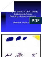 Using the MMPI 2 in Child Custody Evaluations