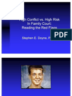 High Conflict vs High Risk