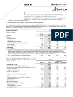 Annual Report tables