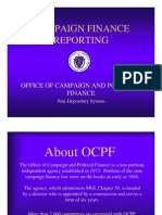 Campaign Finance Reporting Presentation 2011