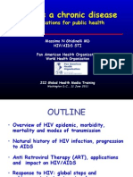 HIV as a Chronic Disease (Dr. Massimo Ghidinelli)