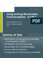 Long-Acting Contraception (David Hubacher)