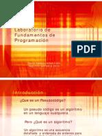 Algoritmos y pseudocódigos, introducción a C++