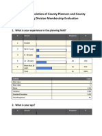 National Association of County Planners and County Planning Division 2011 Membership Evaluation Results
