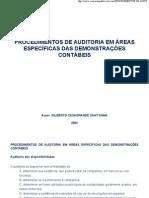 Auditoria em áreas específicas