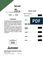 Service Manual Transmission FWD Mitsubishi Manual