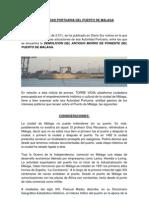 Alegacion Demolicion Morro Poniente Puerto Malaga