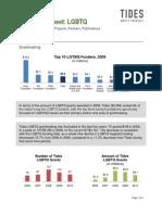 Tides LGBTQ Fact Sheet - 2011