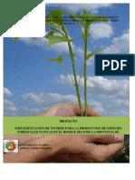 PROYECTO PRODUCCIÓN DE PLANTAS