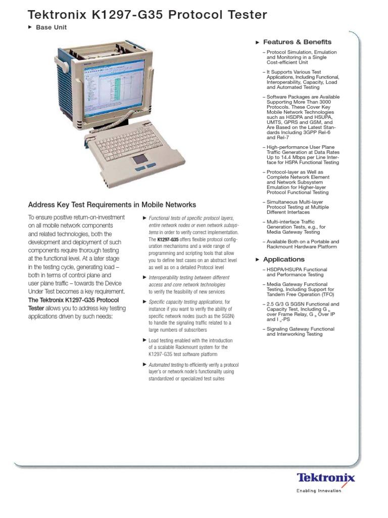 Tektronix_G35SB080   Communications Protocols   Computer Network