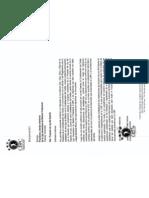 Carta Proyecto de Ley Del Deporte