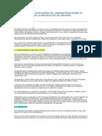 ARQUITECTURA E INGENIERÍA DEL LABORATORIO DESDE EL PUNTO DE VISTA DE LA PREVENCIÓN DE RIESGOS PROFESIONALES
