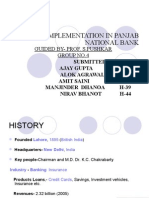 Cbs Implementation in Pnb Bank