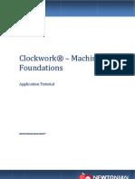 Clockwork - Machine Foundation Software - User Manual