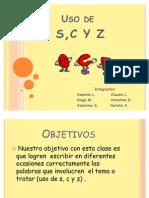 Uso de S, C y Z