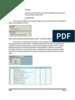 Steps to Delete Vendor Master Data