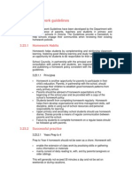 Homework Guidelines DEECD