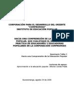 Conde ion Educacion Popular Agosto 2006