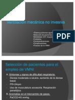 Ventilación mecánica no invasiva