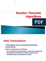 Number Theoretic Algorithms