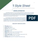 JCR Style Sheet