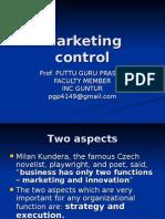 Marketng Control
