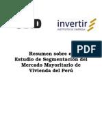 Resumen Sobre El Estudio de Segmentacion Del Mercado rio de Vivienda Del Peru
