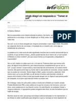 Carta Abierta a Zeinab Alegri en Respuesta a Tomar El Sufismo Sin Ser Un Sufi
