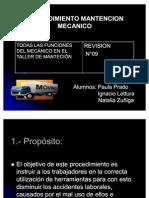 PROCEDIMIENTO MANTENCION MECANICO